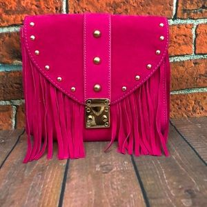 Hot pink crossbody bag